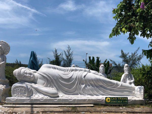 Tượng nhập Niết Bàn (SP003) - Tượng Phật Đá Cao Trang