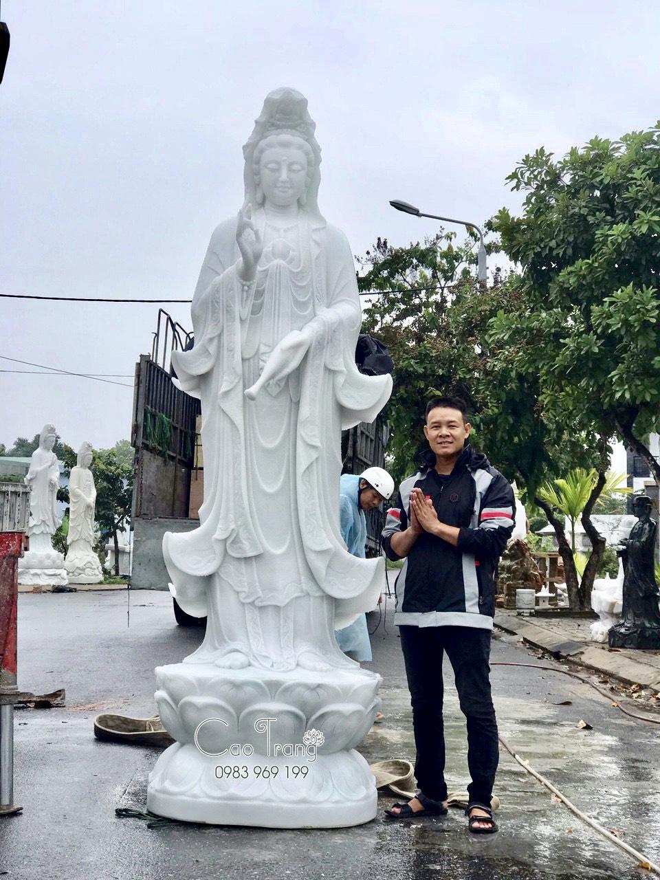 Tượng phật Quan Âm- Mua tượng phật đá Đà Nẵng
