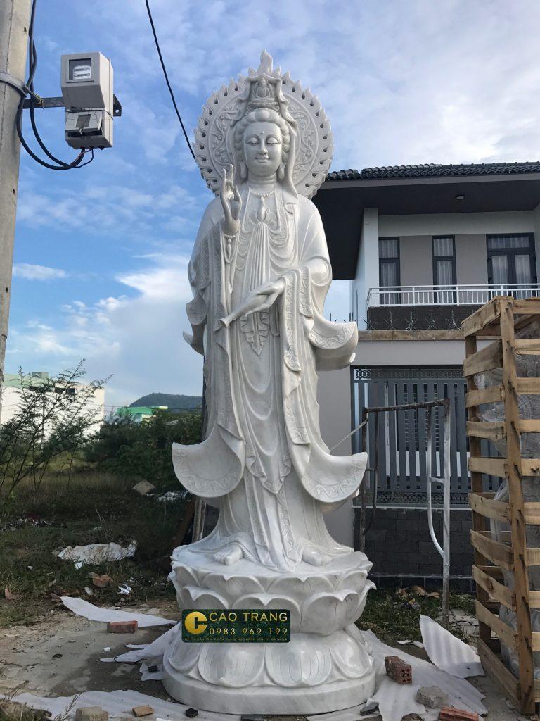 tượng quan âm bồ tát bằng đá 18