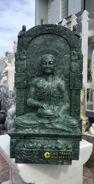 Tượng phật Sivali bằng đá xanh đen