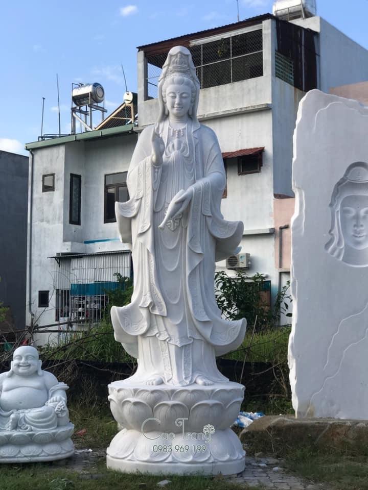 tượng quan âm bồ tát bằng đá 16