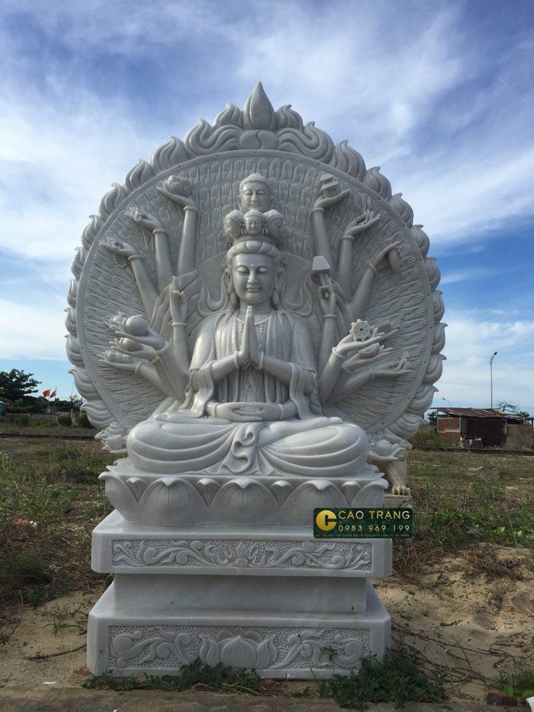 tượng thiên thủ thiên nhãn bằng đá 4