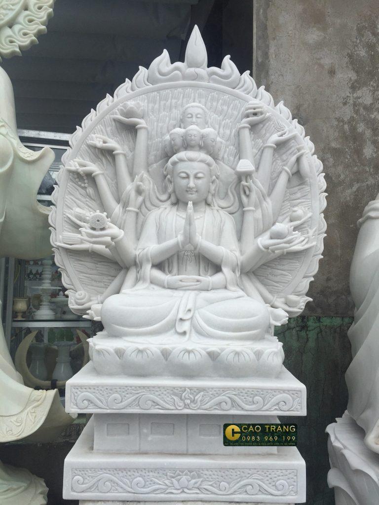 tượng thiên thủ thiên nhãn bằng đá 5