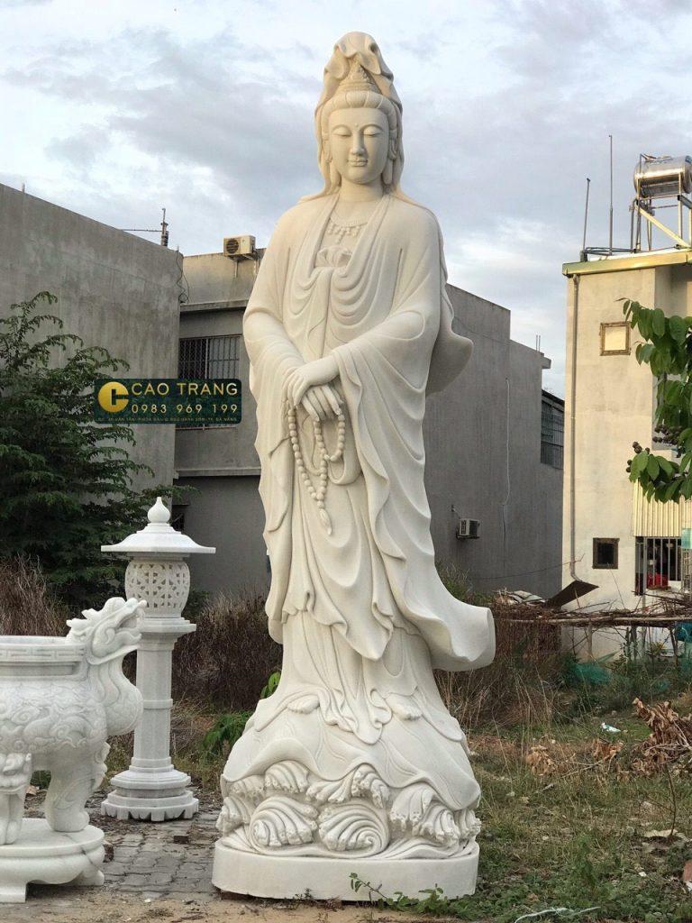tượng quan âm bồ tát bằng đá 15
