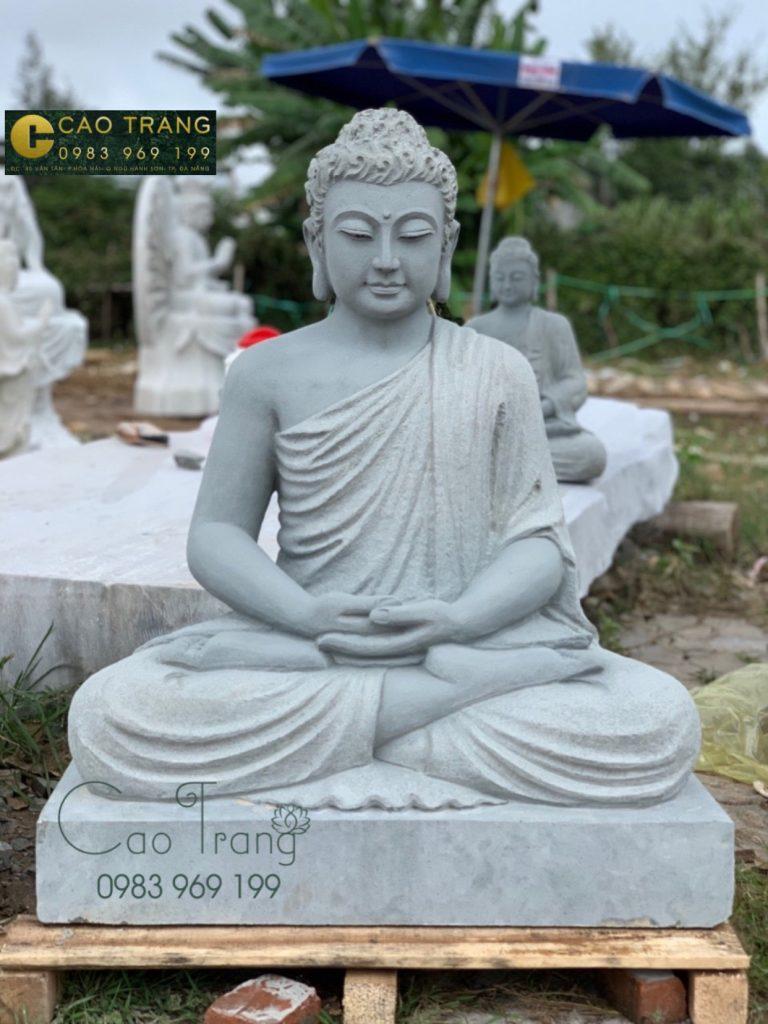 tượng đức phật thích ca đá bằng đá sa thạch 1