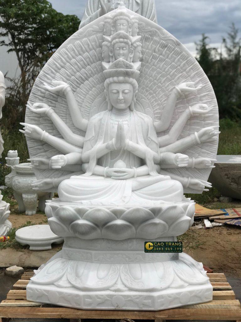 tượng thiên thủ thiên nhãn bằng đá 1