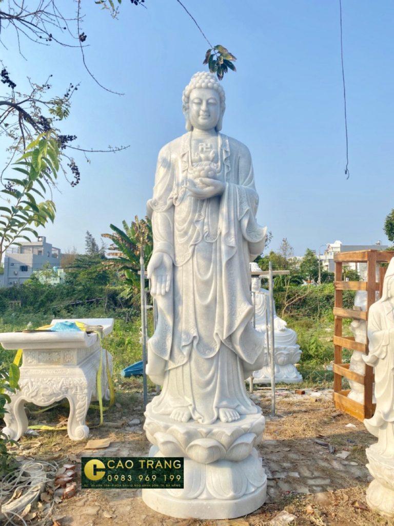 tượng phật a di đà bằng đá 4