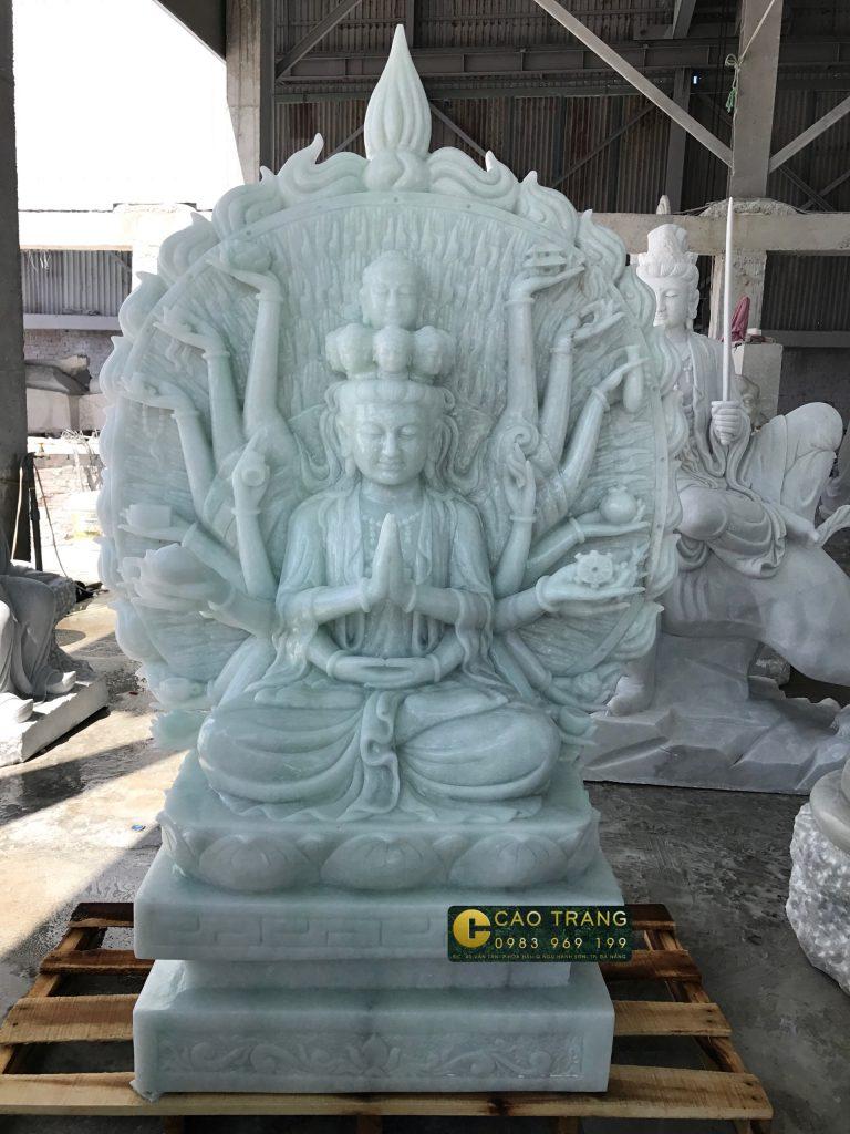 tượng thiên thủ thiên nhãn bằng đá 3