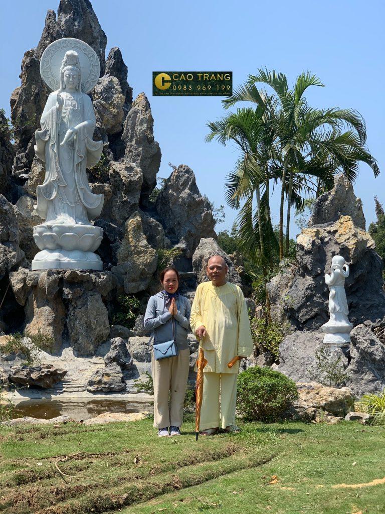 tượng quan âm bồ tát bằng đá 24