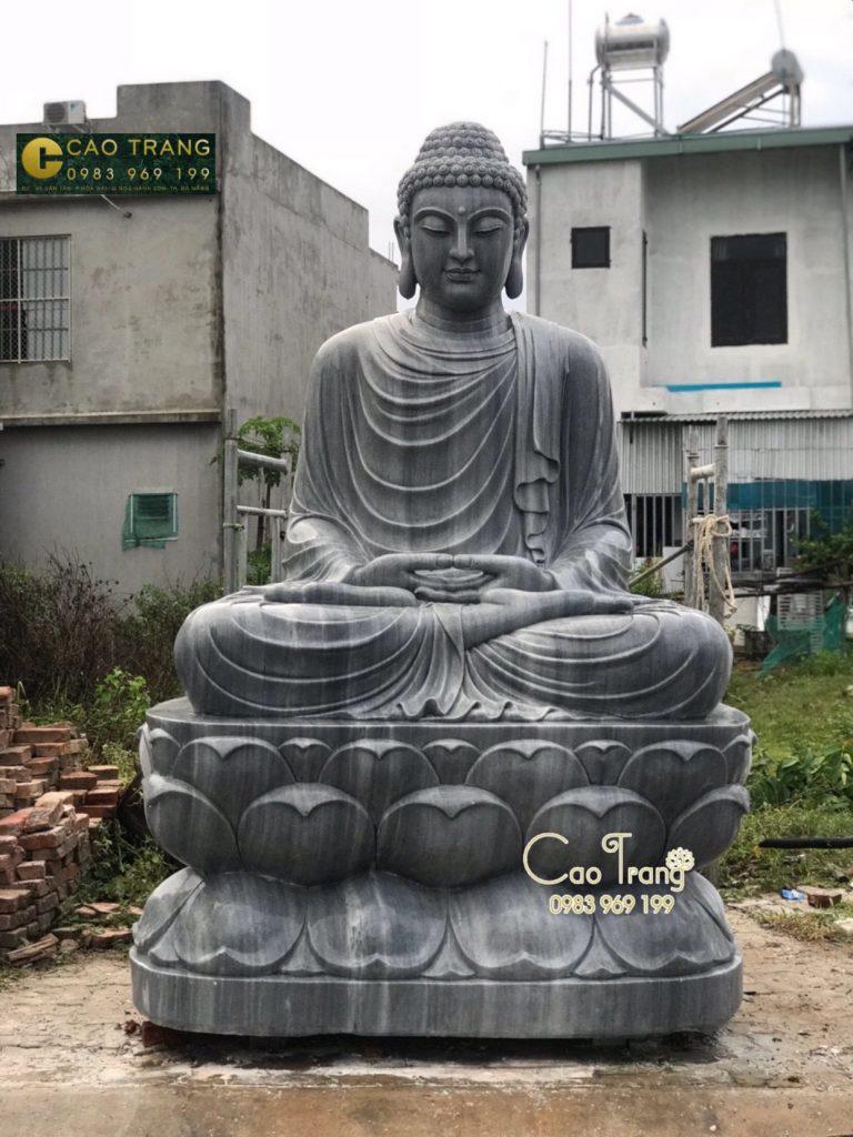 tượng đức phật thích ca đá bằng đá sa thạch