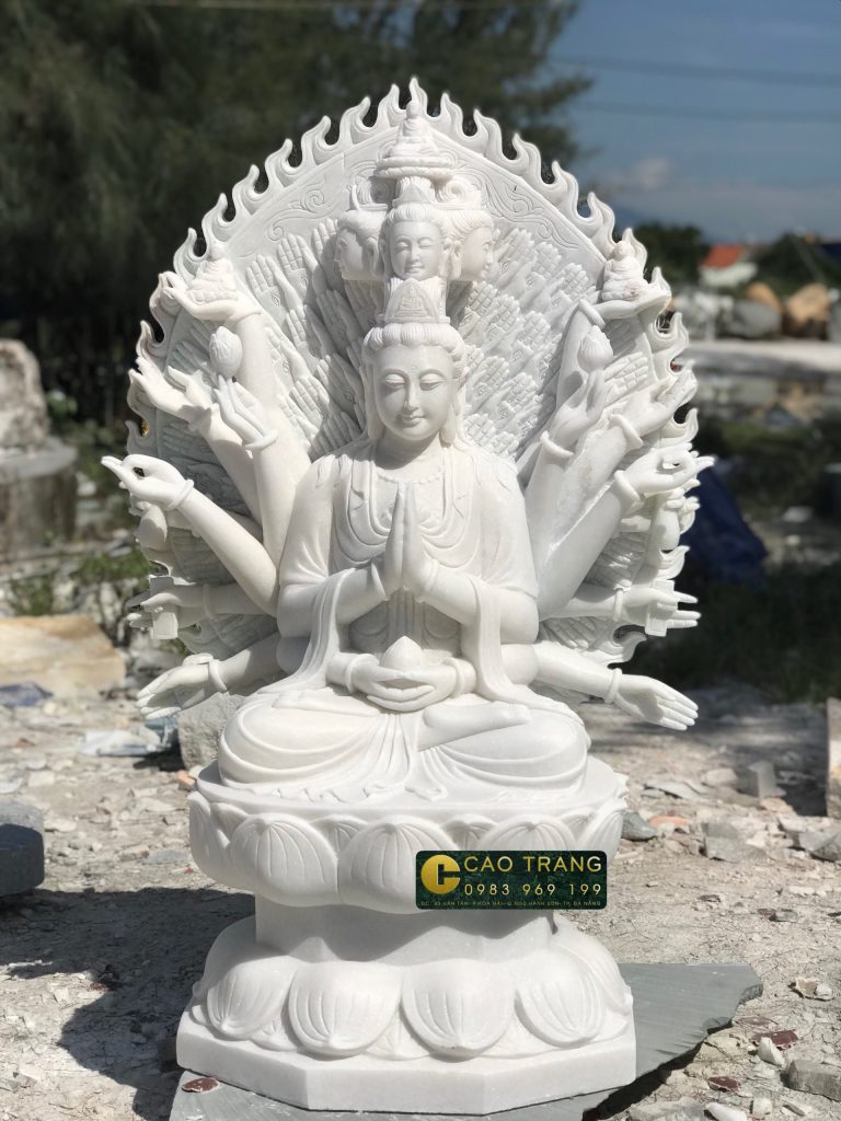 tượng thiên thủ thiên nhãn bằng đá 6