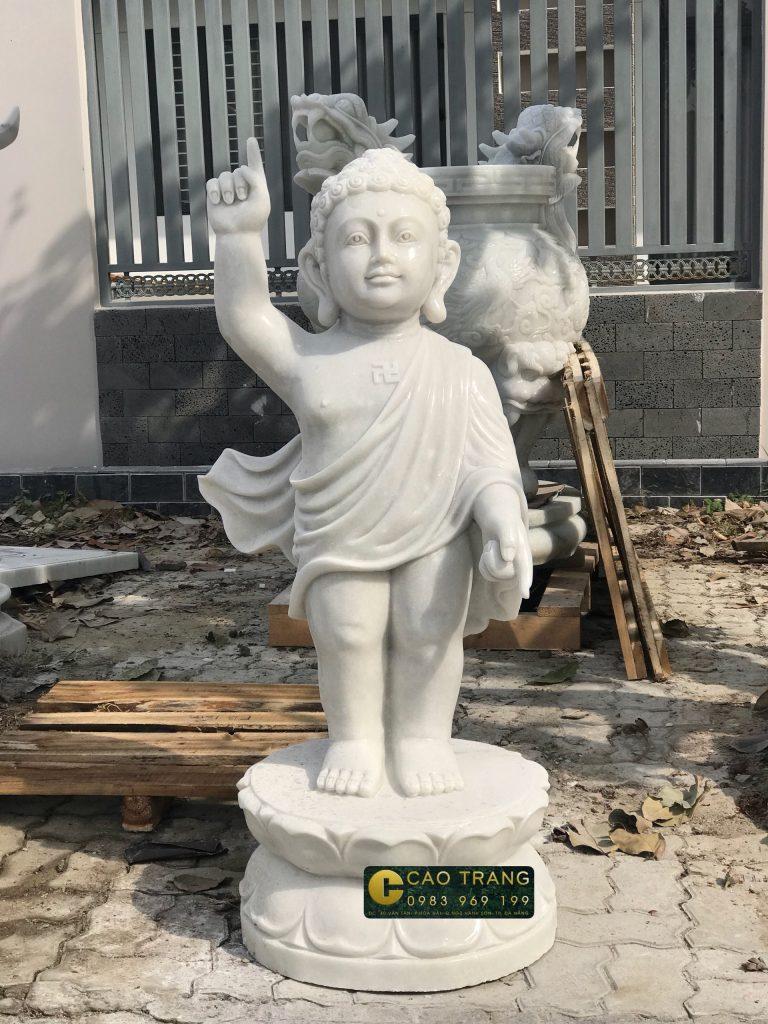 mua tượng Phật đản sanh bằng đá