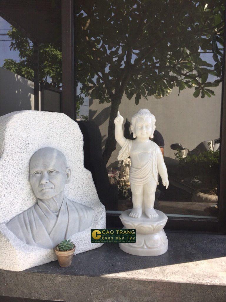 thỉnh tượng Phật đản sanh bằng đá