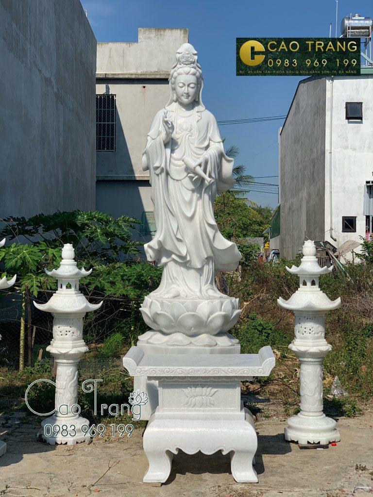 Tượng Phật quan âm bằng đá giá bao nhiêu