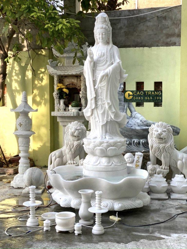 Tượng Phật Quan Âm Bằng Đá
