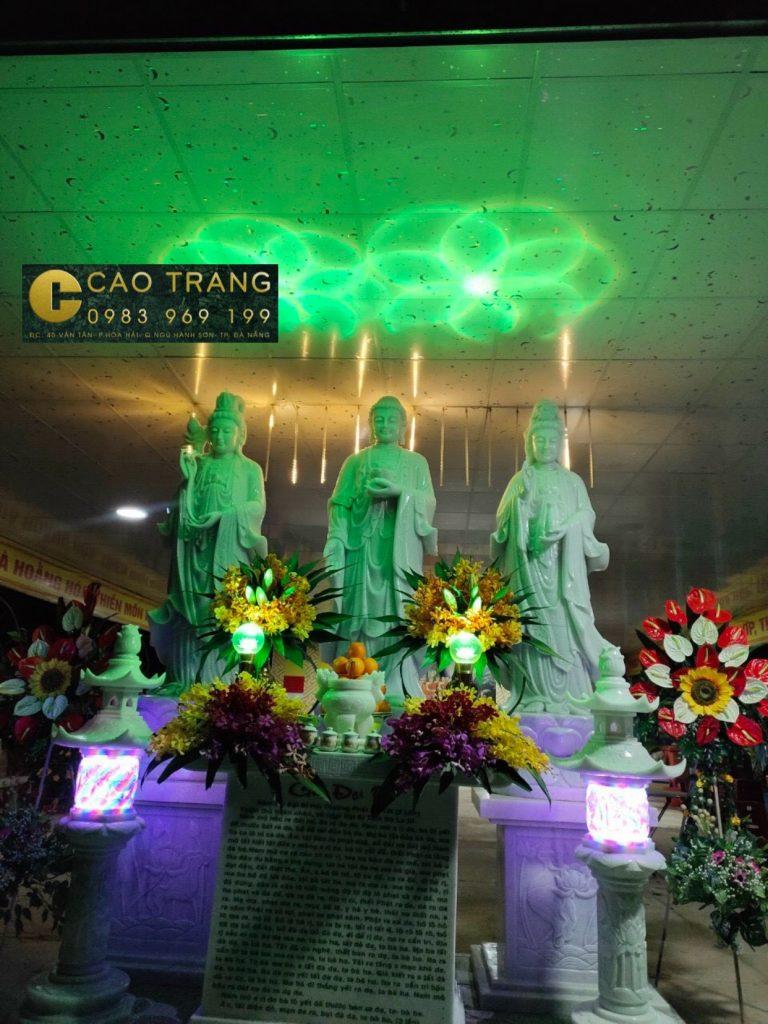 Tượng Tam Thế Phật Bằng Đá